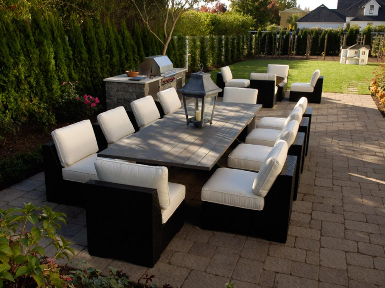 Furnishing your outdoor room hgtv for Outdoor patio furniture sets