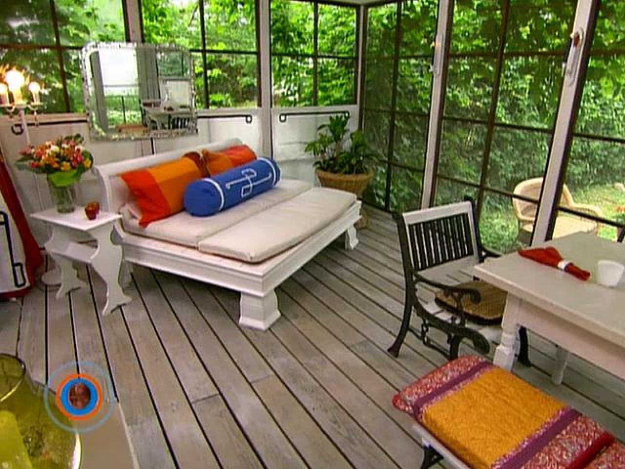 How to create an outdoor room hgtv for Patio decorating photos
