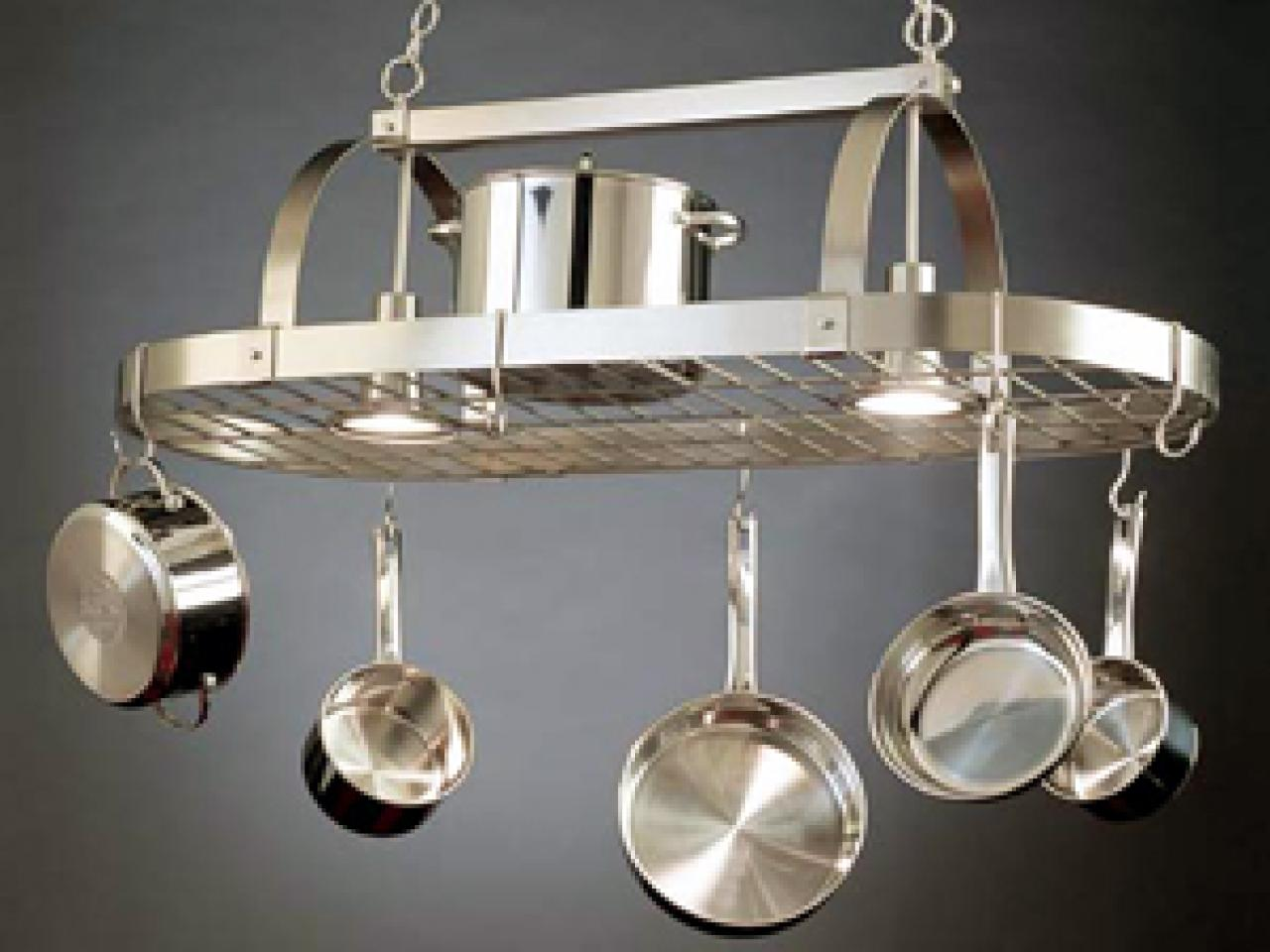 A pot rack in its proper place hgtv for Pot racks for kitchen