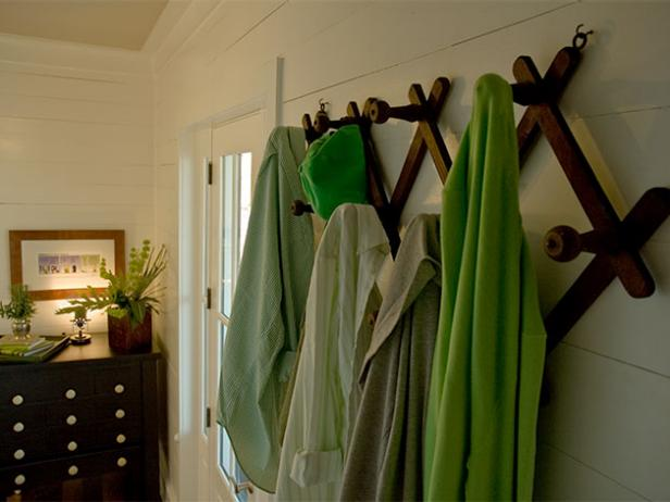 Add a mudroom or a laundry in a small space