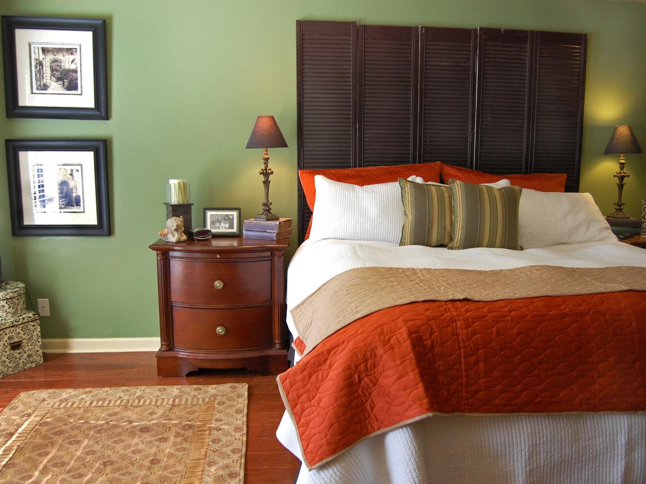 Naturally sophisticated green hgtv - Brown and green bedroom ...