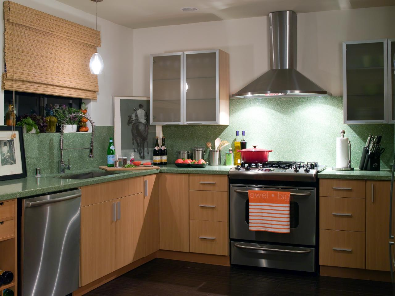 bamboo kitchen cabinets: pictures, ideas & tips from hgtv | hgtv