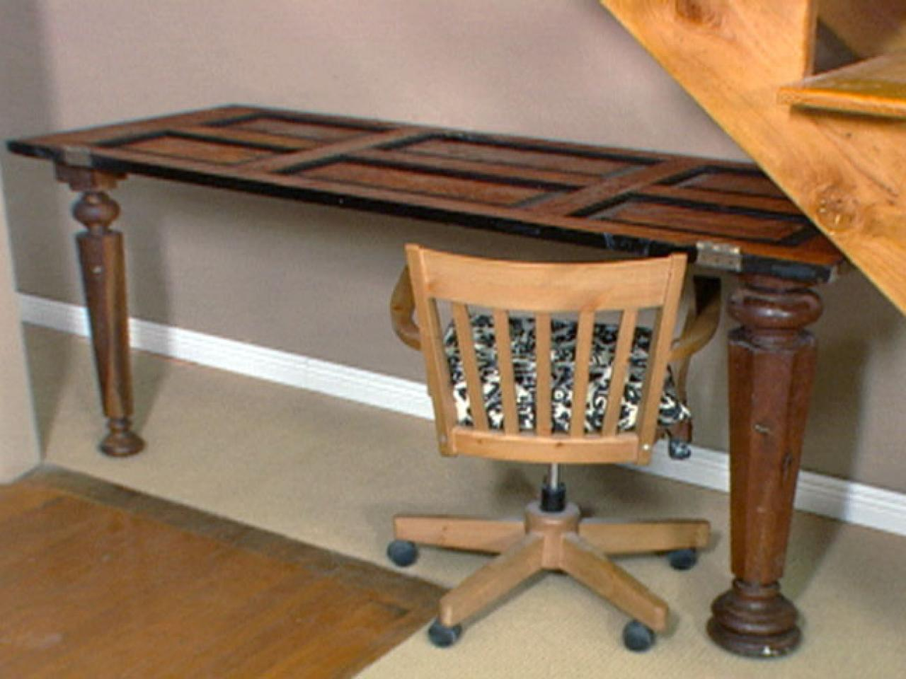 How To Making A Desk Out Of An Antique Door Hgtv