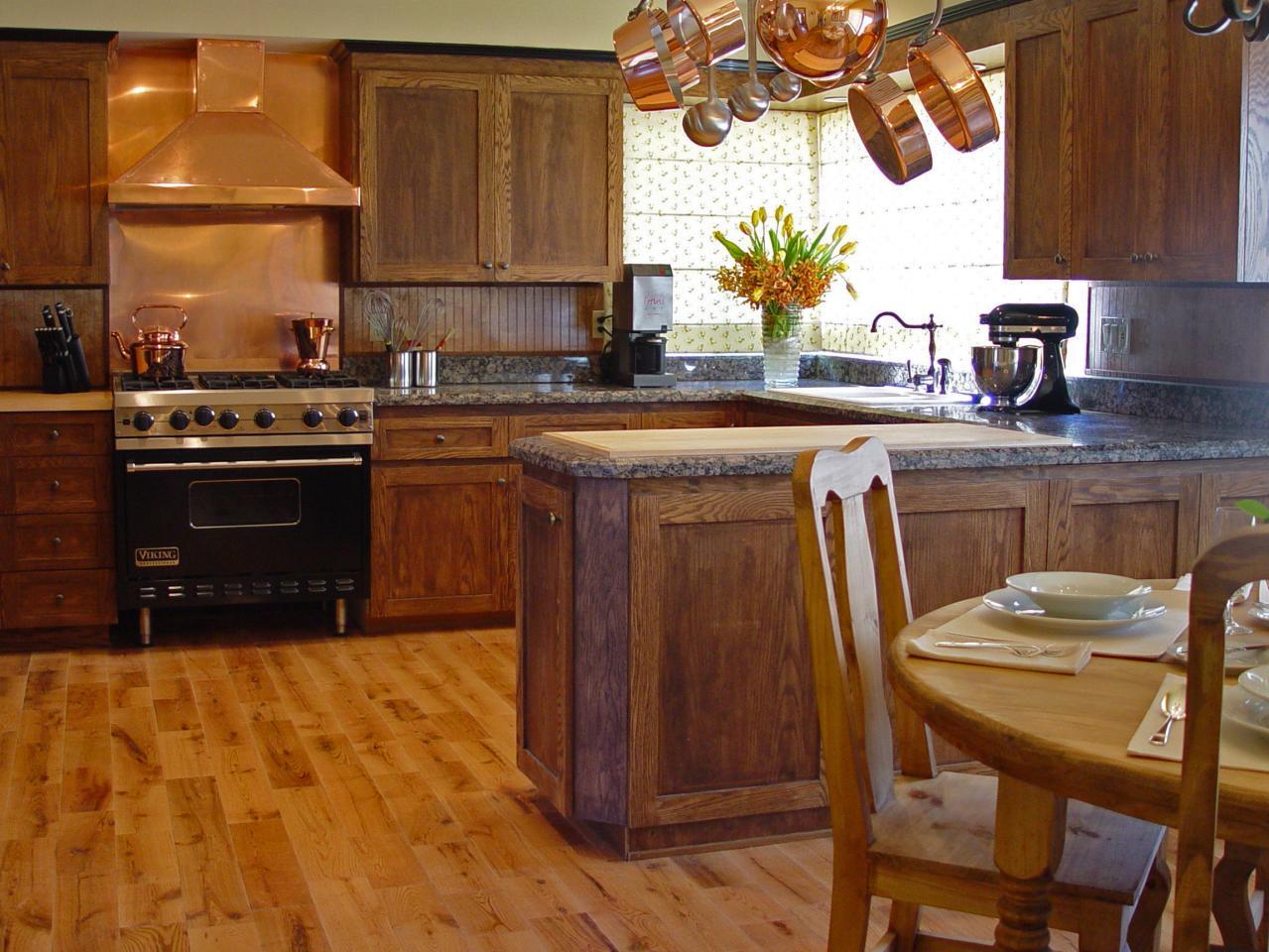 Hardwood Floor In The Kitchen Kitchen Flooring Essentials Hgtv