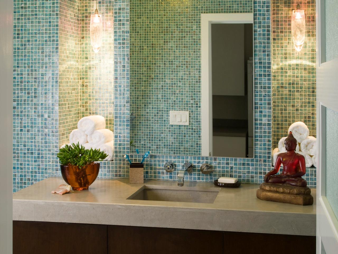 Guest bathrooms hgtv for Modern guest bathroom
