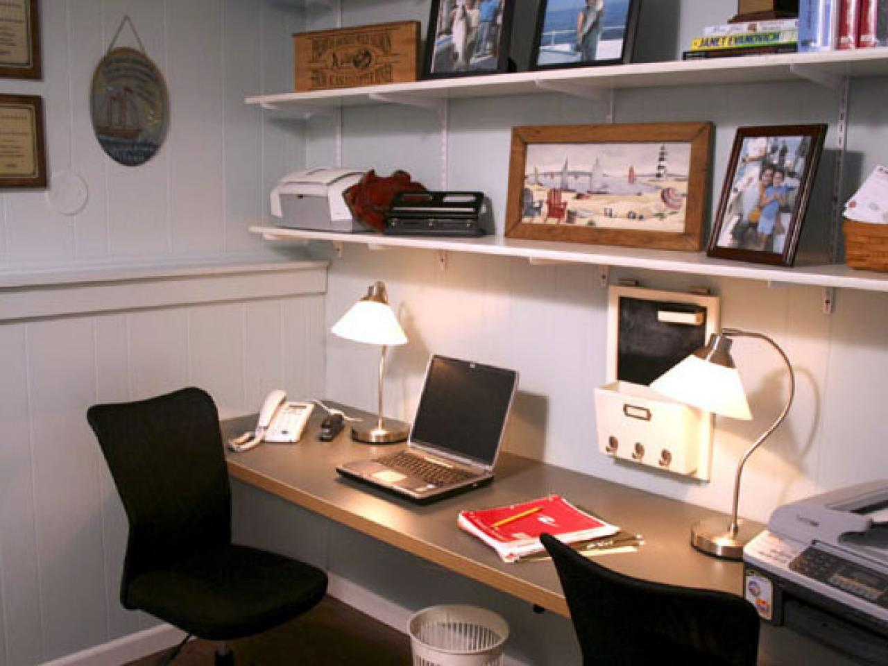 Create a home office with pocket doors hgtv Home office design images