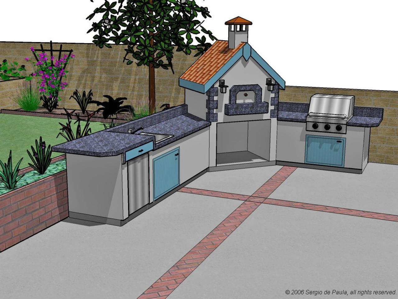 Options for an affordable outdoor kitchen hgtv for Outdoor kitchen ideas plans