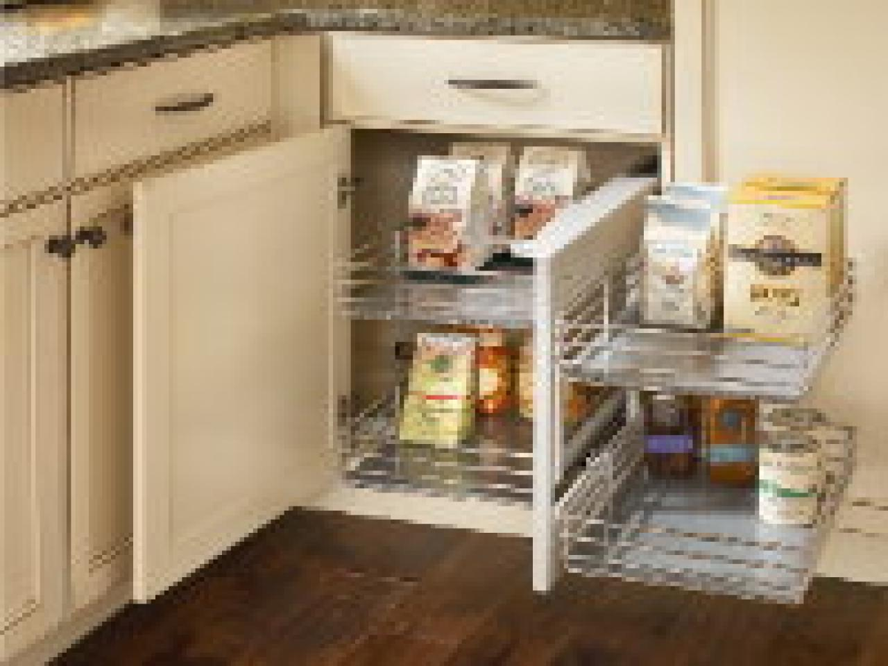 Upgrades put kitchen cabinets to work hgtv for Kitchen cabinet accessories