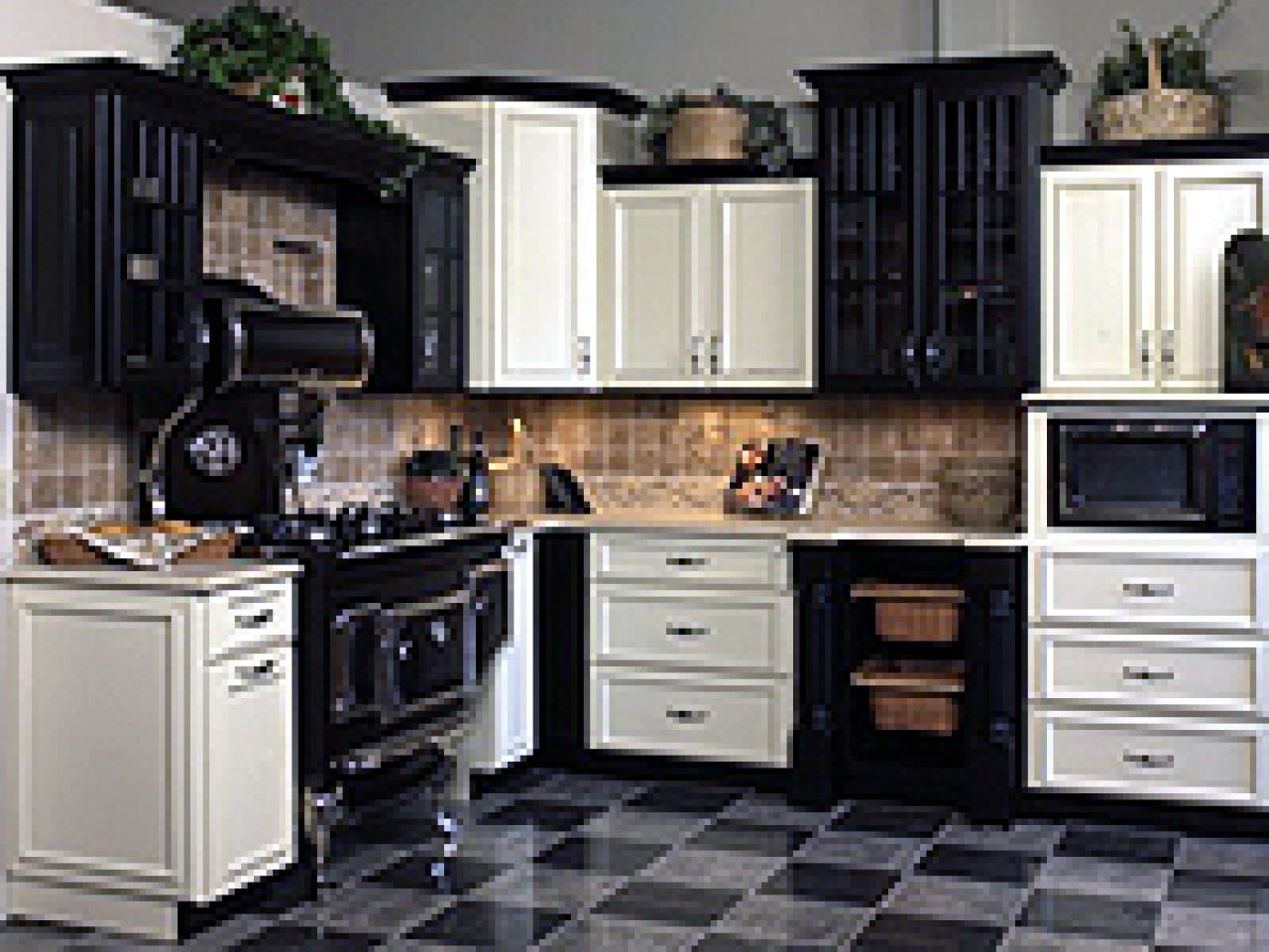 Venturing to the dark side of cabinets hgtv Kitchen design mixed cabinets