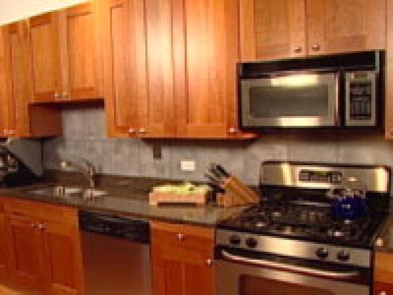 Kitchen Backsplash an easy backsplash made with vinyl tile | hgtv