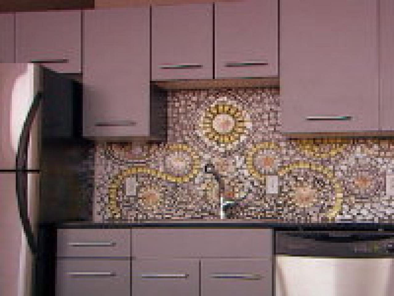 Diy Tile Backsplash Kitchen How To Create A China Mosaic Backsplash Hgtv