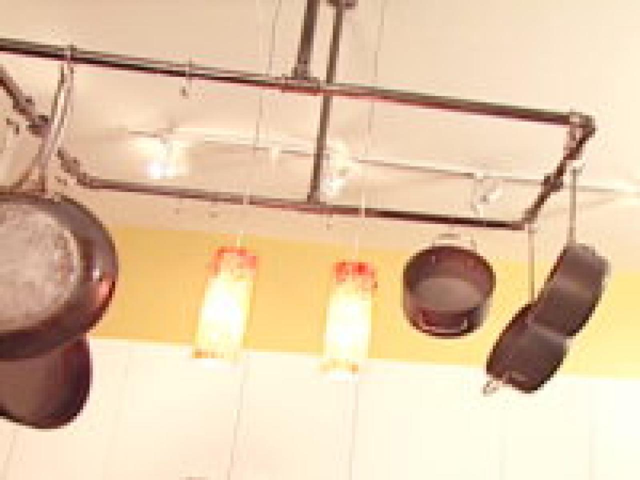 Pot and pan hanger for kitchen - Clever_ideas_pot_racks_kitchenrk_1 Assemble An Industrial Pot Rack