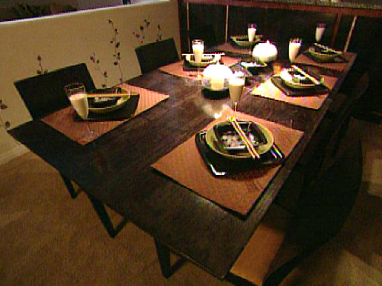 how to build an expandable dining room table hgtv. Black Bedroom Furniture Sets. Home Design Ideas
