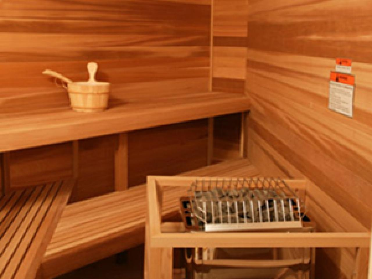 The relaxing benefits of at home saunas hgtv for Sauna home