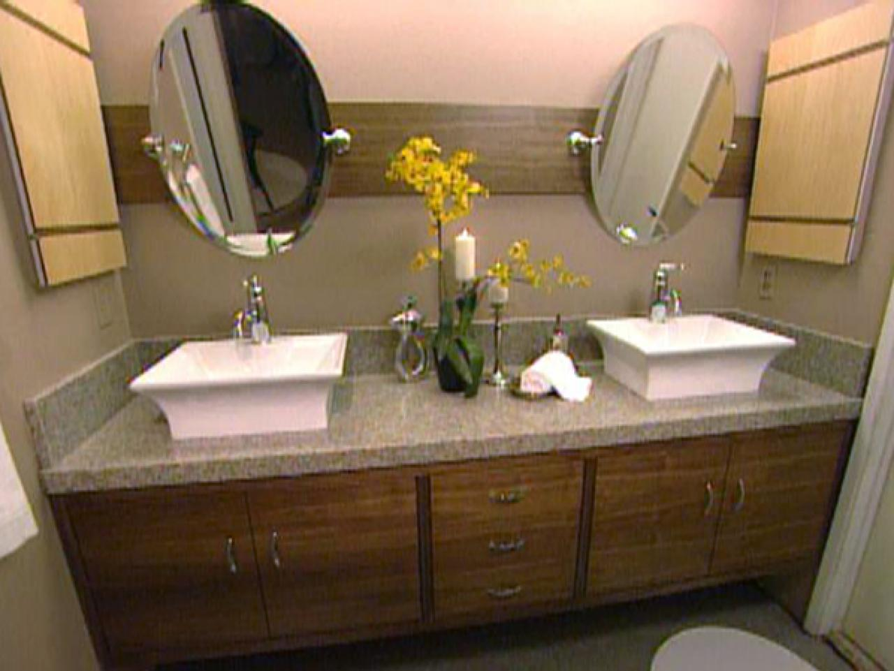 how to build a master bathroom vanity hgtv. Black Bedroom Furniture Sets. Home Design Ideas