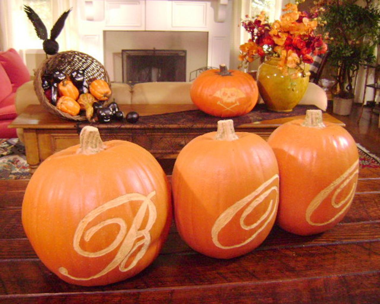 Using a pumpkin carving template hgtv Ideas for pumpkin carving templates