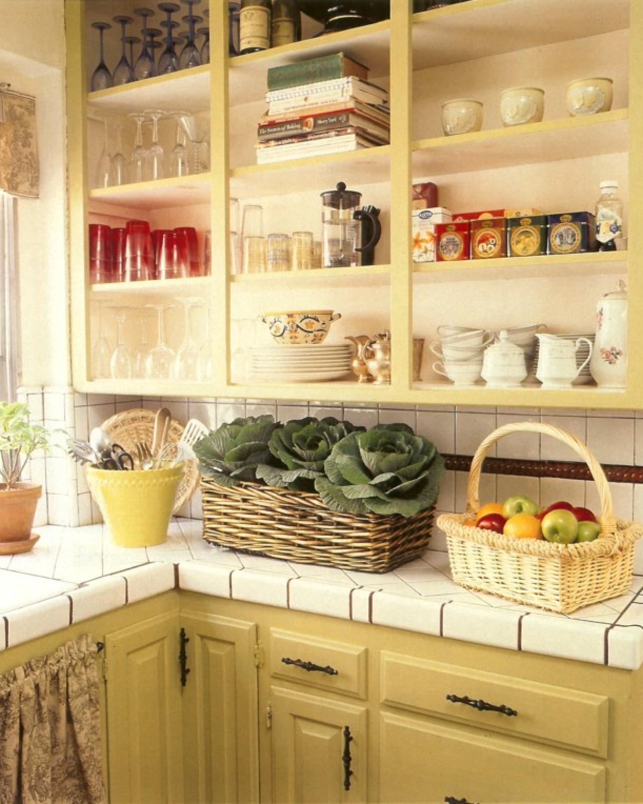 Hanging Open Kitchen Shelves: Painting Kitchen Cabinets