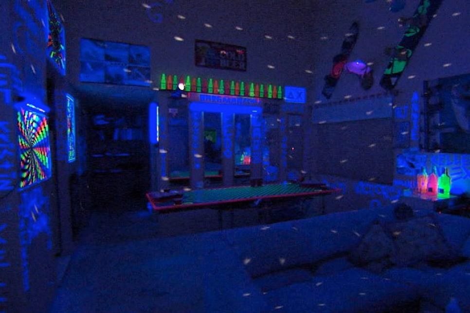 Laser Lights Dorm Room