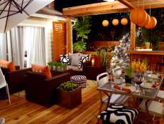 Outdoor Living Room in Orange