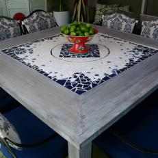Mediterranean Outdoor Dining Table