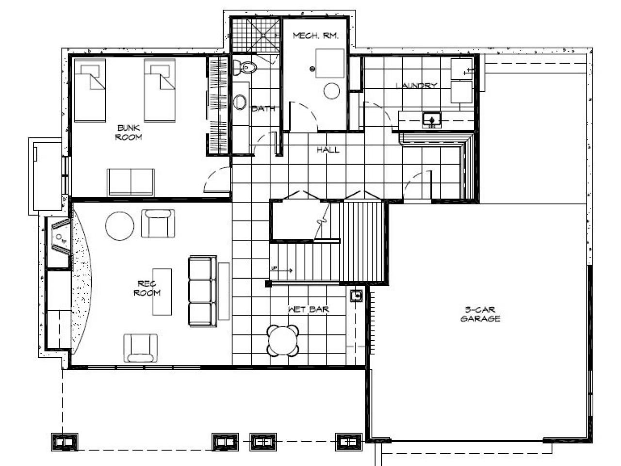 Floor plans for hgtv dream home 2007 hgtv dream home 2008 1997 hgtv - One level house plans with basement paint ...