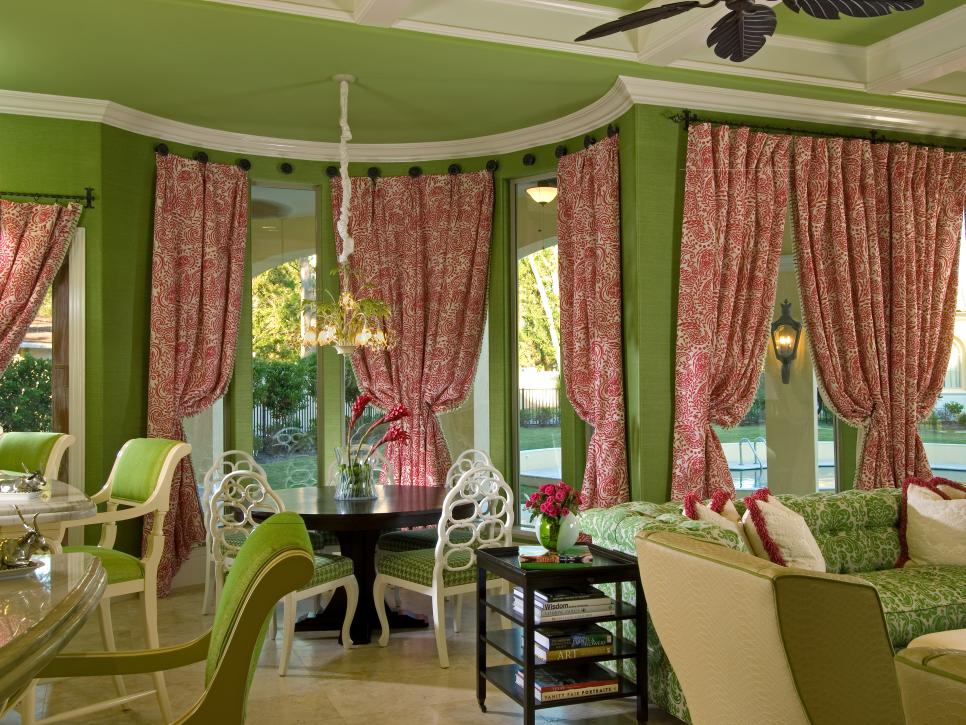 Bay window treatment ideas hgtv for What is a window treatment