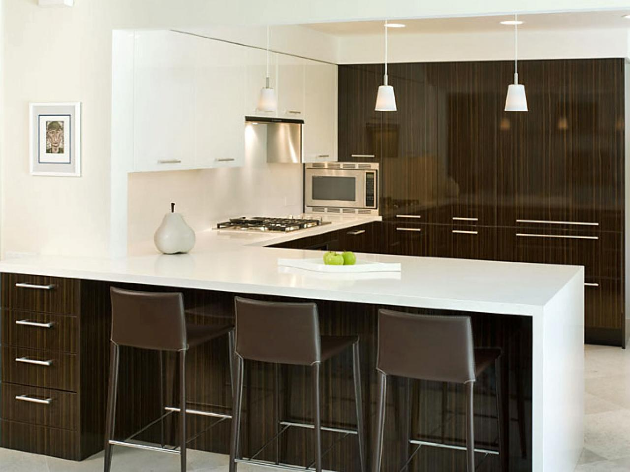 Peninsula kitchen design pictures ideas tips from hgtv for Modern cupboard designs