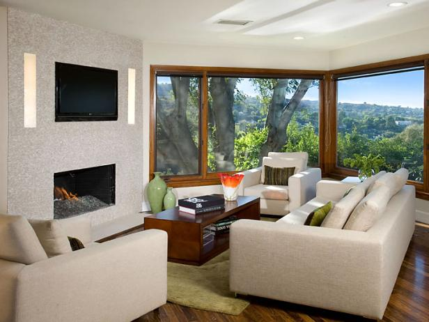 corner living space offers stunning outdoor views