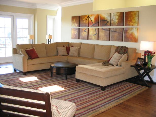 Contemporary Neutral Living Room With Sectional Sofa