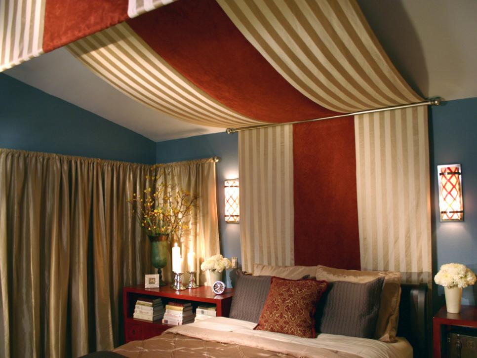 Stylish and unique headboard ideas hgtv - How to decorate a canopy bed ...