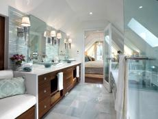 Serene Attic Bathroom Retreat