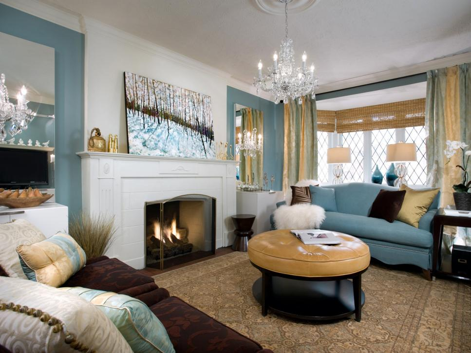 9 fireplace design ideas from candice olson candice for Next living room wallpaper