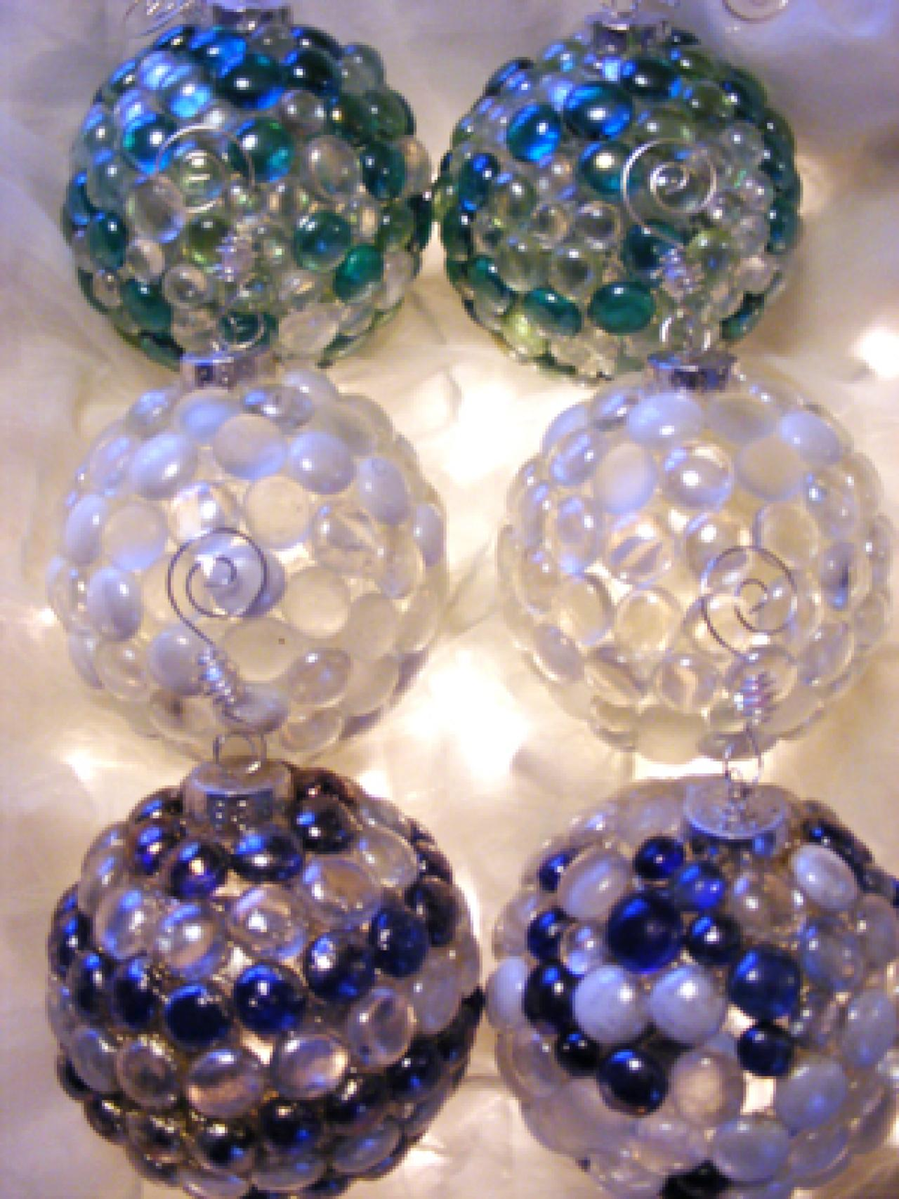 Sea glass christmas ornaments hgtv for How to design a christmas ornament