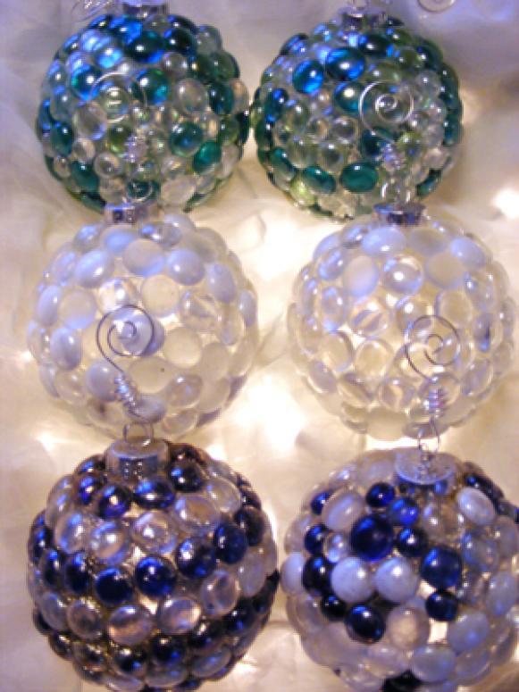 Sea Glass Christmas Ornaments