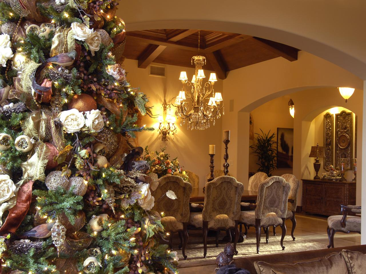 Christmas tree decorating ideas interior design styles for Christmas home design