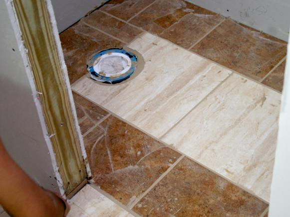 Wainscoting And Tiling A Half Bath