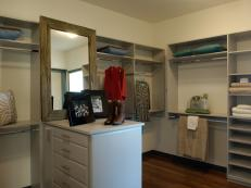 Spacious Walk-In Closet With Center Island