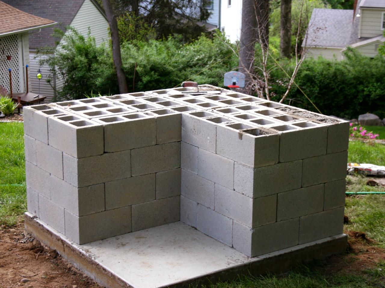 Cinder Block Outdoor Kitchen How To Build An Outdoor Pizza Oven Hgtv