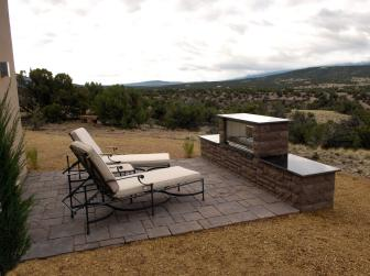 Southwestern-Style Patio With Gas Fireplace