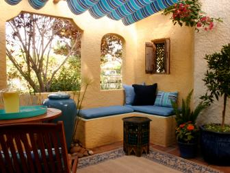 Spanish-Style Stucco Patio