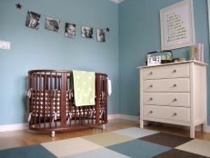 Nursery With Checkered Rug
