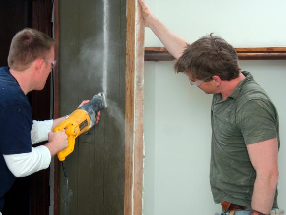 Cutting Cabinet Wall