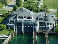 Extravagant Waterfront Home With Double Boat Garage