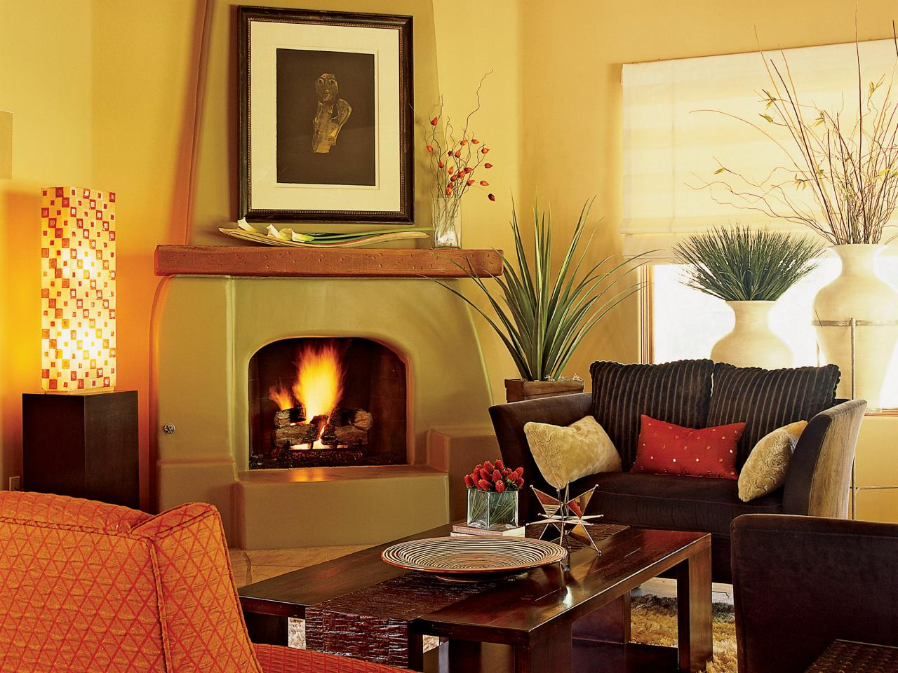 Southwestern Living Room With Warmth And Charm This Living Room From