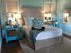 Robin's Egg Blue and White Master Bedroom