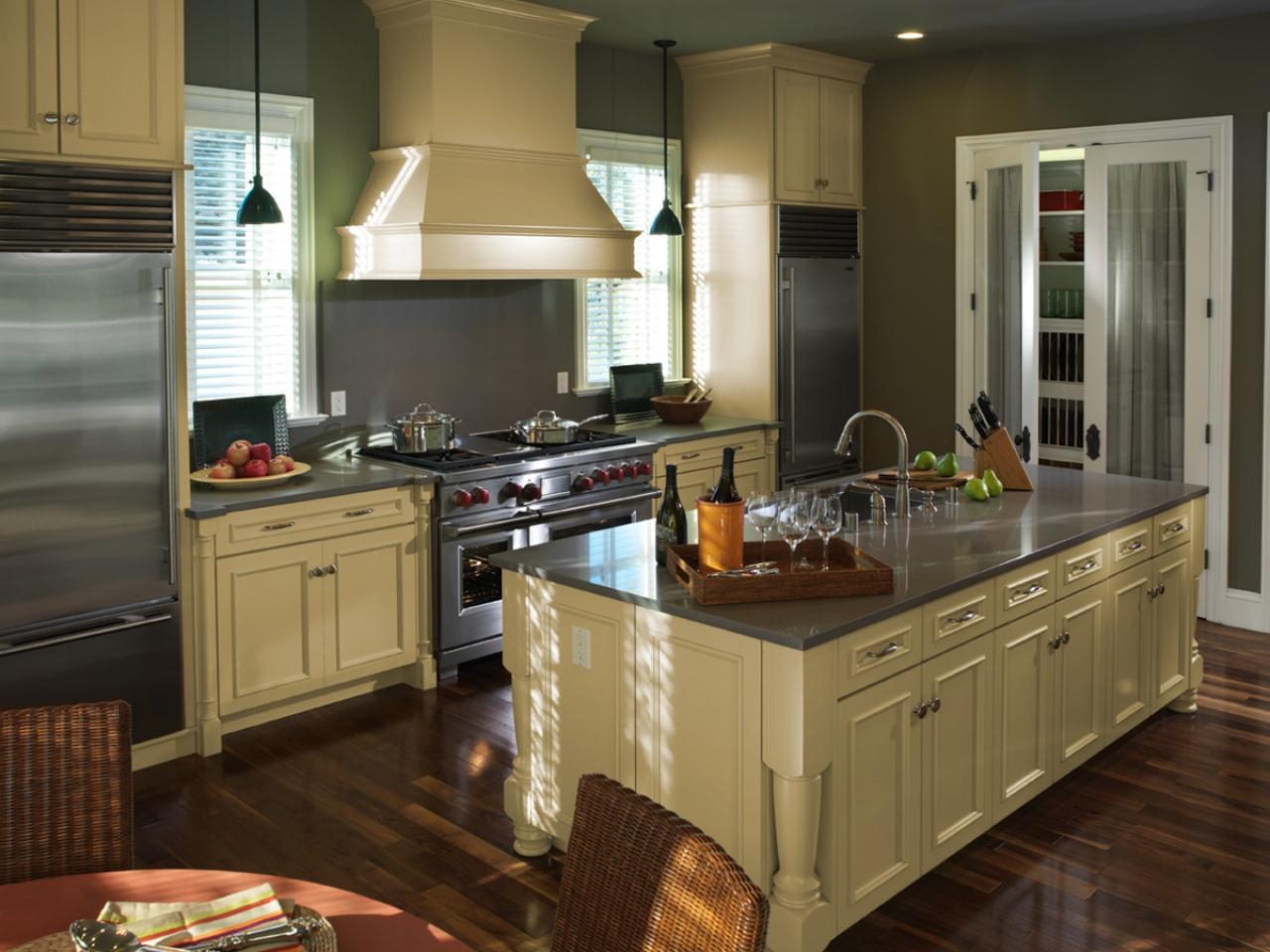 Green Painted Kitchen Cabinets green kitchen paint colors: pictures & ideas from hgtv | hgtv