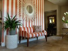 bold stripes inspire foyer decor