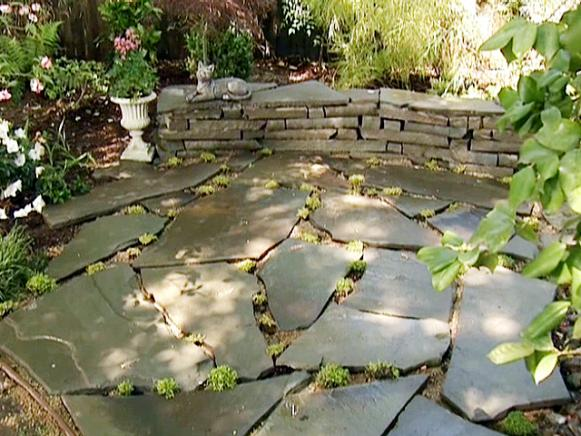 diy flagstone walkway how to build a stone accent wall hgtv