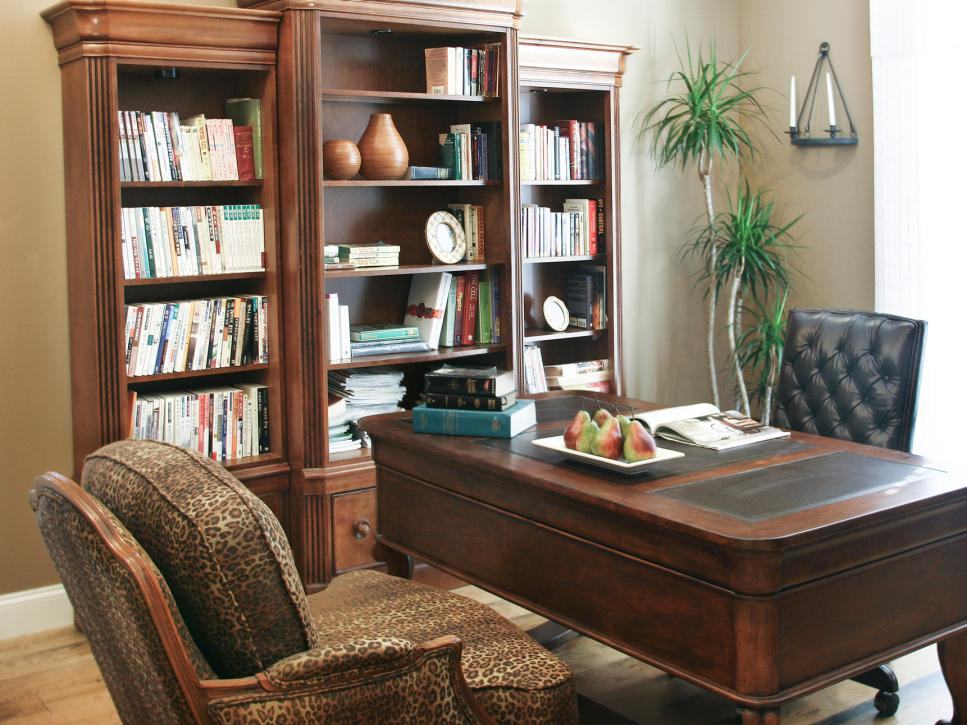 Home office design styles hgtv for Pictures of home offices