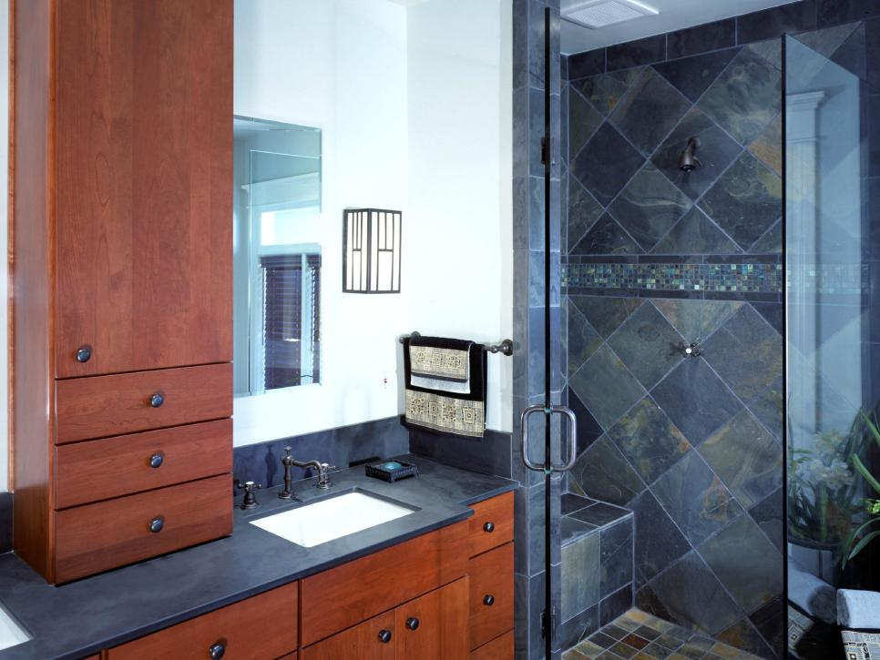 10 stylish bathroom storage solutions hgtv for Master bath redo
